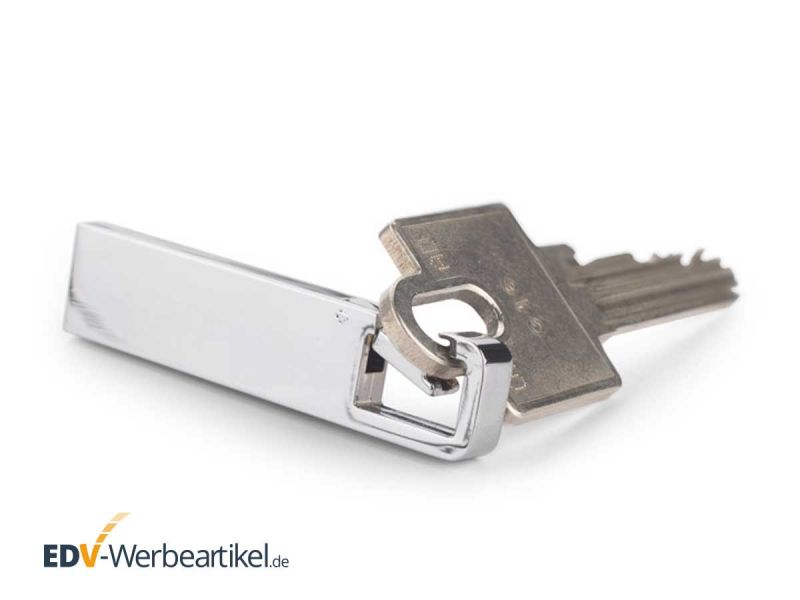 USB Stick KARABINER Haken Schlüsselanhänger silber Metall