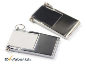 Mini Klapp USB Stick silber schwarz weiss