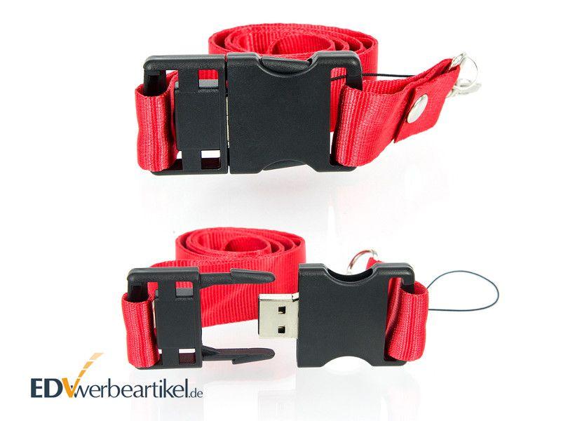 USB Stick LANYARD bedrucken mit Logo als Werbeartikel Giveaway Streuartikel Werbemittel