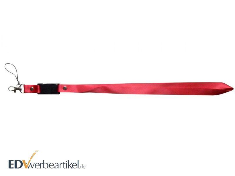 USB Stick Lanyard als Werbeartikel in rot