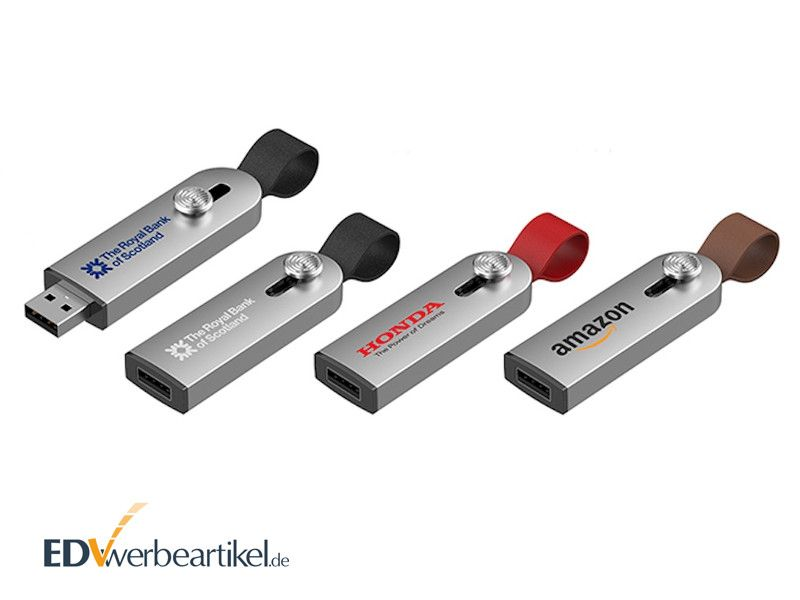 USB Stick EXECUTIVE mit Leder-Schlaufe als Giveaway