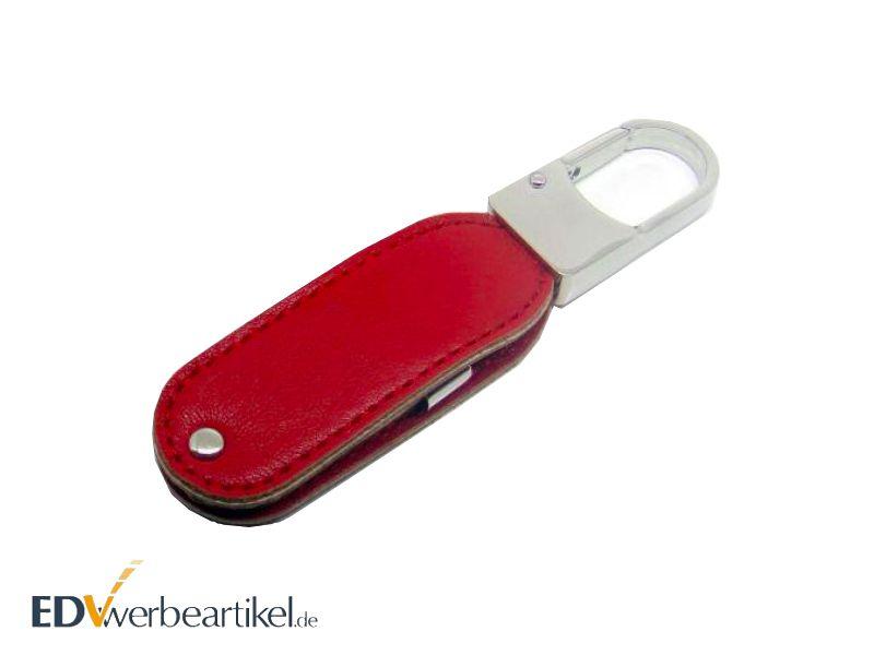 USB Stick Leder Schlüsselanhänger Werbeartikel EXCLUSIV