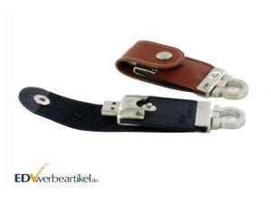 USB Stick Leder Werbeartikel Schlüsselanhänger