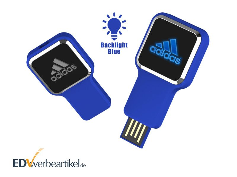 USB Stick LUMINA leuchtet mit Logo als Werbemittel
