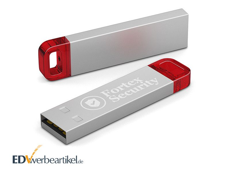 USB Stick LED METALL mit Logo gravieren