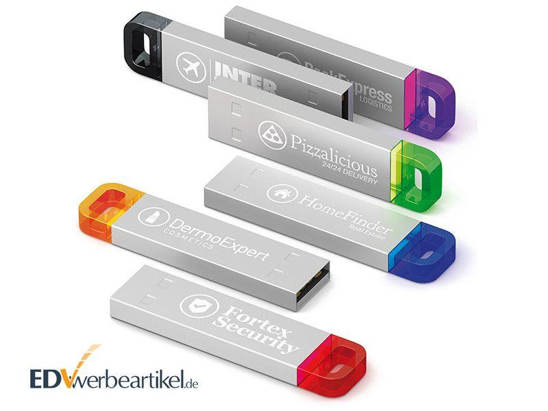 USB Stick aus Metall mit Logo und LED