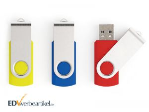 USB Stick mit Logo bedrucken Werbeartikel - Flip, Twister, Switch