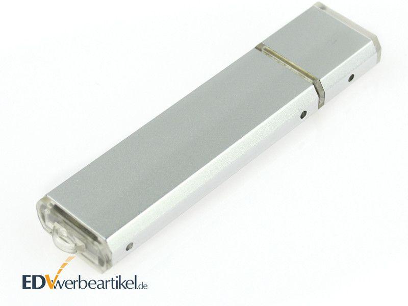 USB Stick mit Logo bedrucken Werbegeschenk - Mini Alu SILVER