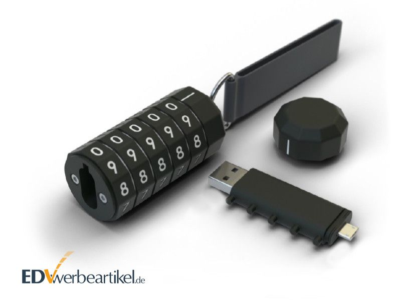 USB Stick mit Logo LOCKED