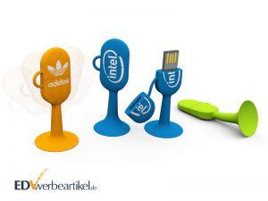 USB Stick mit Logo Werbeartikel Swoopy oval
