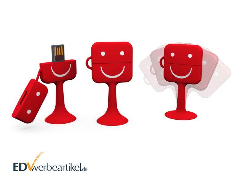 USB Stick mit Logo Werbeartikel Swoopy Quadrat