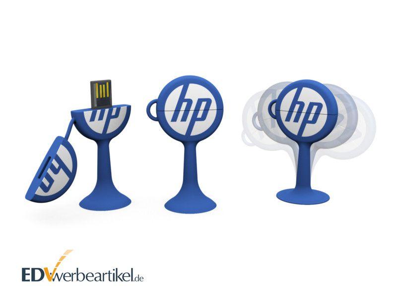 USB Stick mit Logo Werbeartikel Swoopy rund