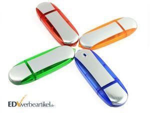 USB Stick mit Logo Werbemittel bedrucken Simple Alu TWO