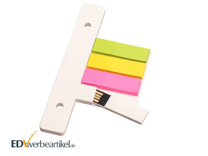 USB Stick ORDNER mit Klebezettel als Werbemittel