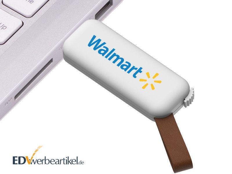USB Stick mit PU-Leder-Schlaufe in PC