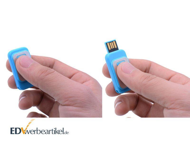 USB Stick BRANDING mit Push und Pull Technik