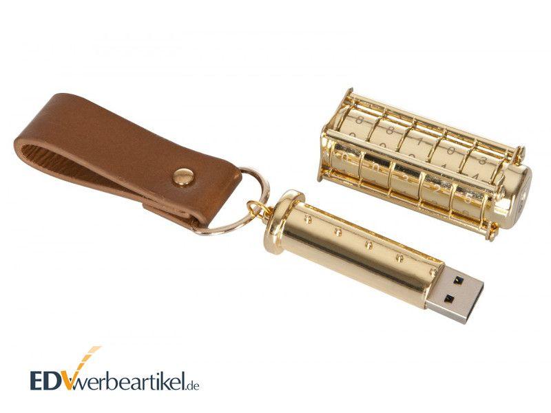 USB Stick für Schatztruhe LOCKED ANTIQUE als Streuartikel