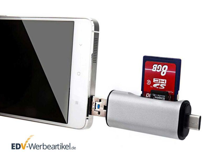 USB Stick als Speicherkartenlesegerät für SD-Cards und micro-SD-Cards