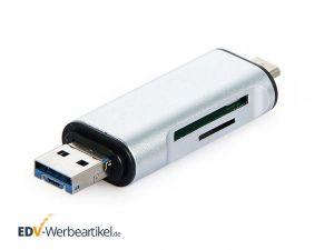 USB Stick mit SD- und micro-SD-Kartenleser