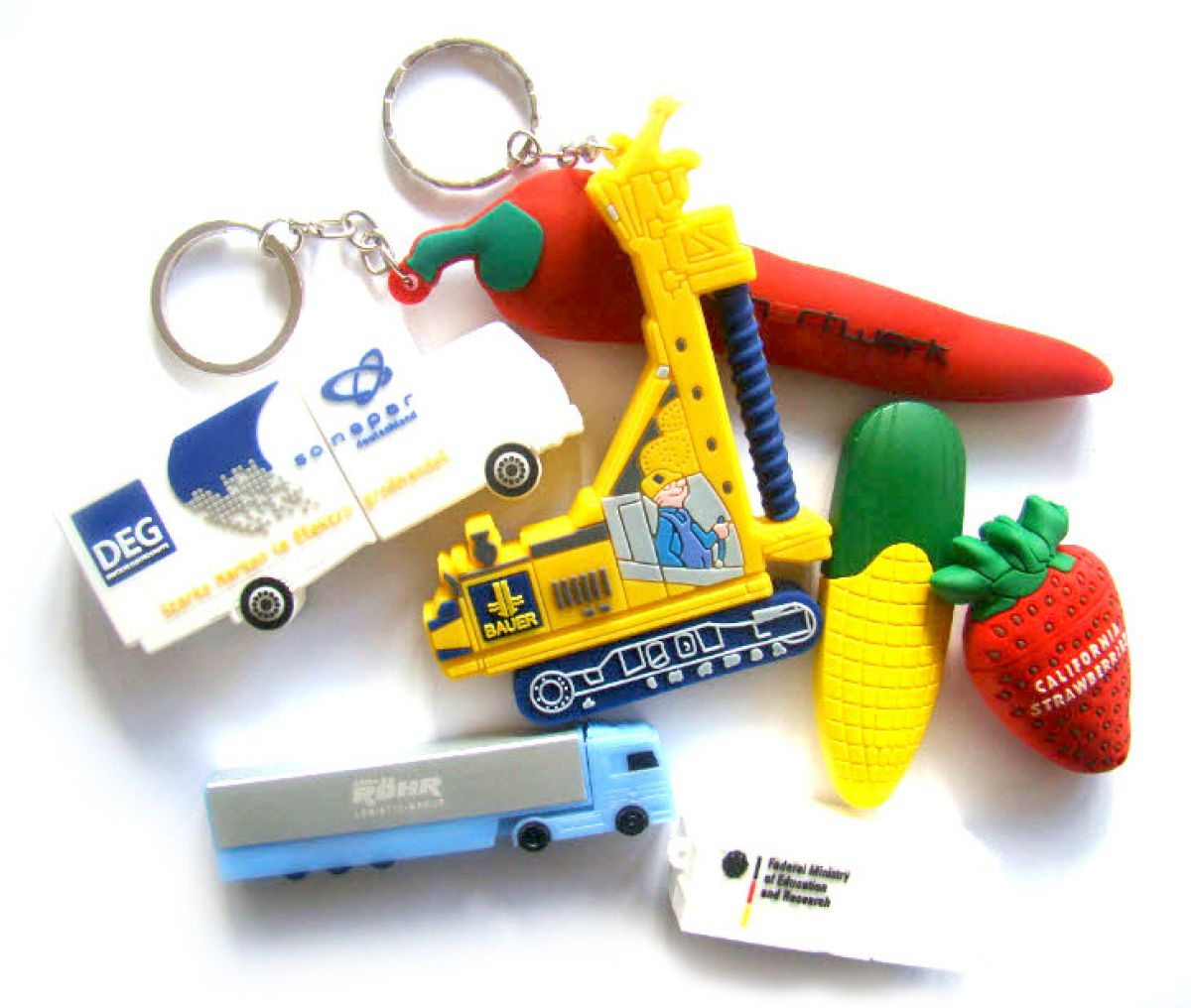 Collage von individuellen USB-Sticks - Sonderformen
