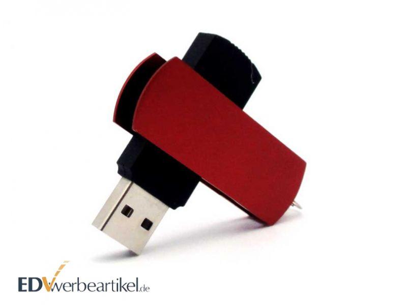 USB Stick TWISTER rot Werbeartikel mit Logo
