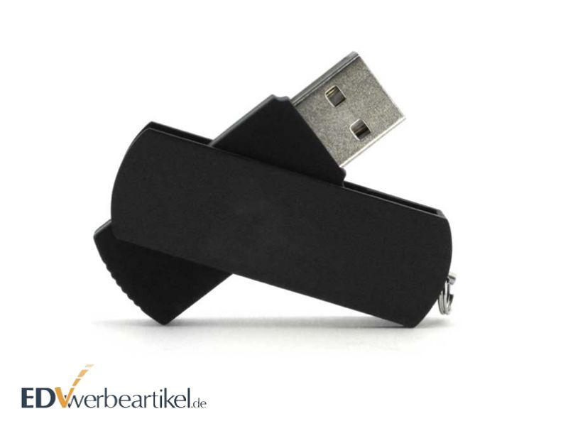 USB Stick TWISTER schwarz mit Logodruck