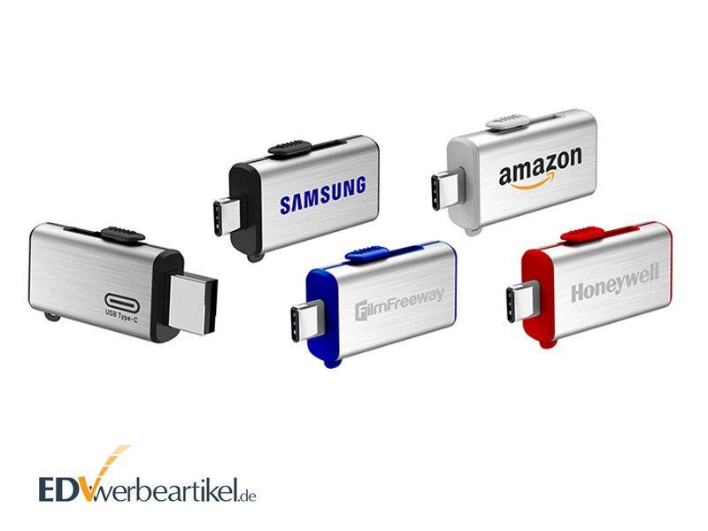 Werbeartikel USB Stick Typ C bedrucken - Logodruck oder Logogravur