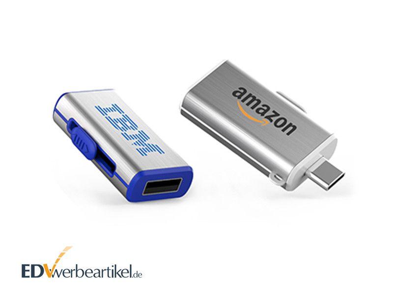 USB Stick Typ C SLIDE mit Logo bedrucken