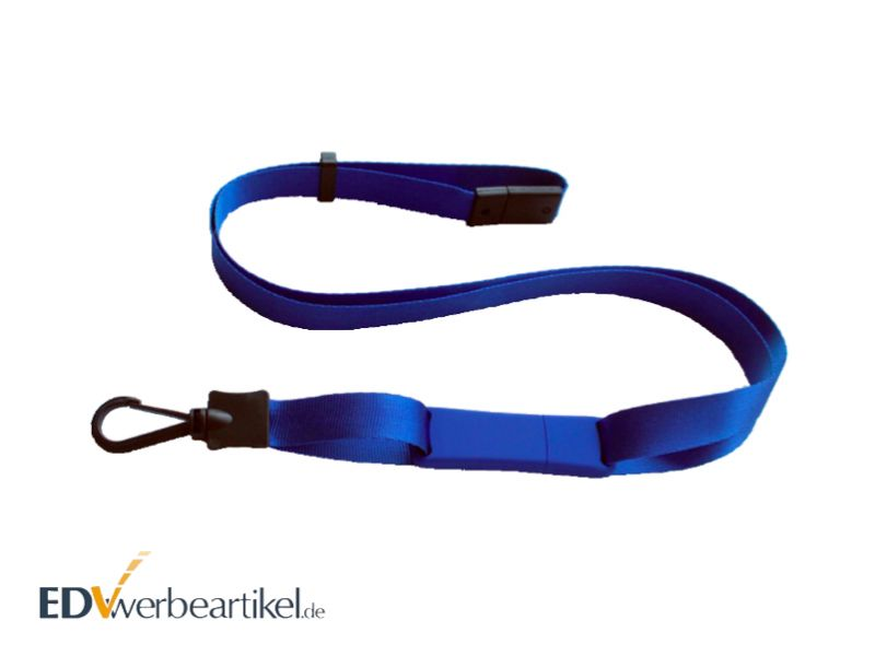 USB Stick Lanyard blau