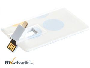USB Stick Visitenkarte OTG bedrucken mit Logo individuell gestalten Werbeartikel