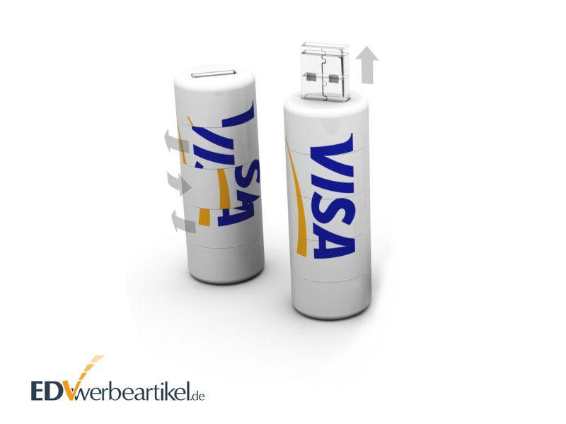 USB Stick Werbeartikel mit Logo bedrucken Roll