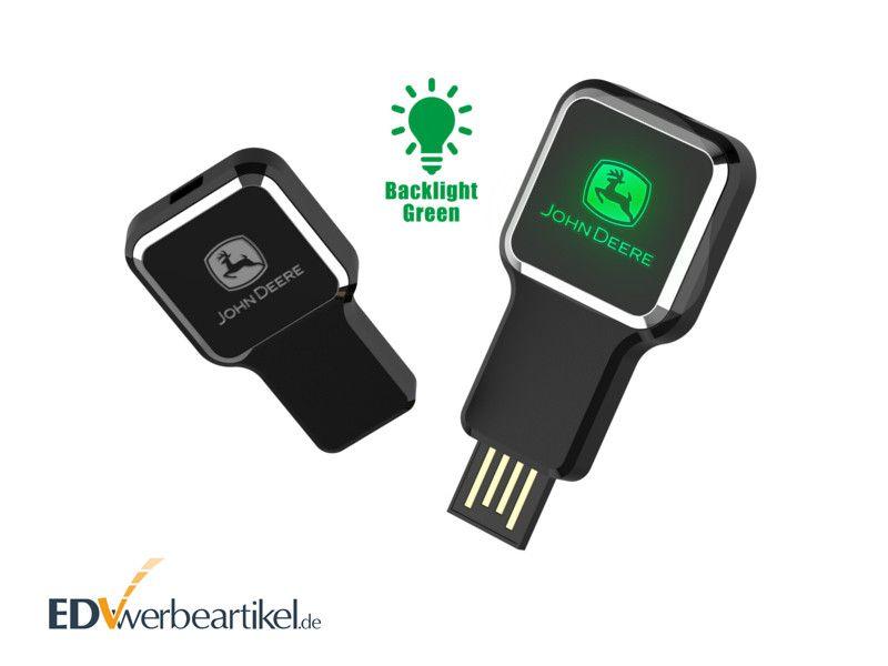 USB Stick Werbeartikel in schwarz LUMINA