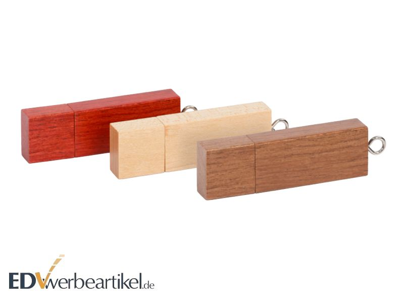 USB Stick aus Holz TIMBER Farbauswahl