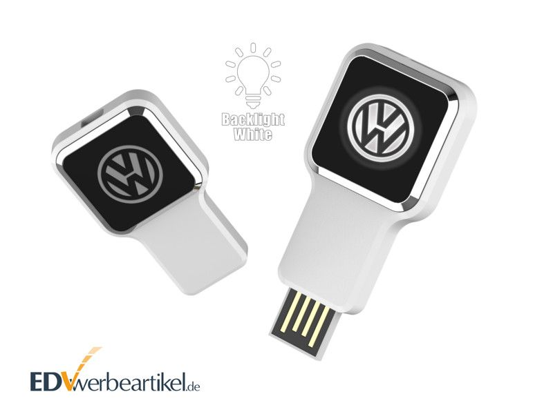 USB Stick Werbeartikel in weiss LUMINA