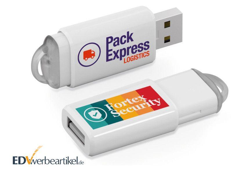 USB Stick Werbemittel mit Logo bedrucken - SLIDER BOX