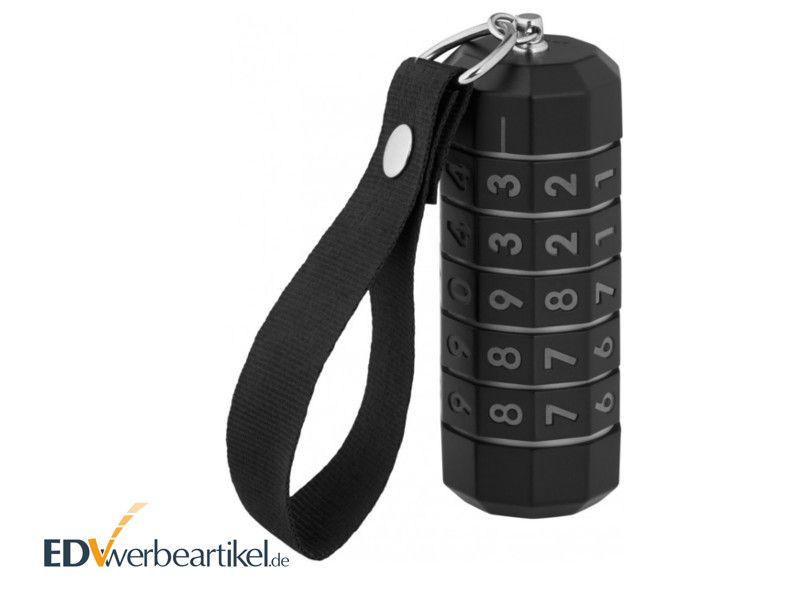 Sicherer USB Stick mit Zahlenschloss mit Logo bedrucken - LOCKED