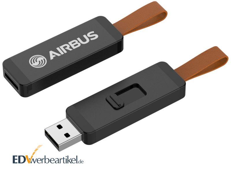 USB Sticks bedrucken in schwarz - Prämie CORD
