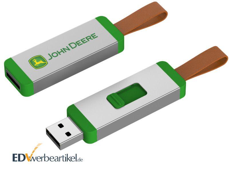 USB Sticks bedrucken in grün - Werbeartikel CORD