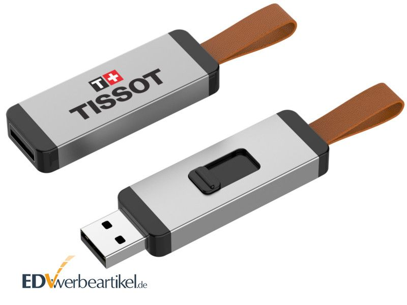USB Sticks bedrucken in silber - Giveaway CORD