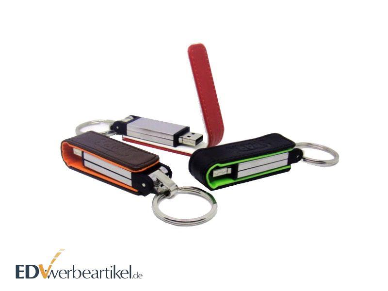 USB Stick aus Leder mit Logo als Werbeartikel