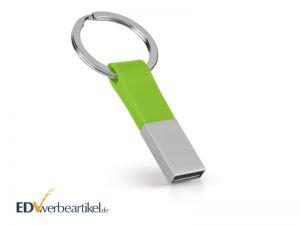 USB Stick Schlüsselanhänger mit Logo bedrucken - Elite - Grün