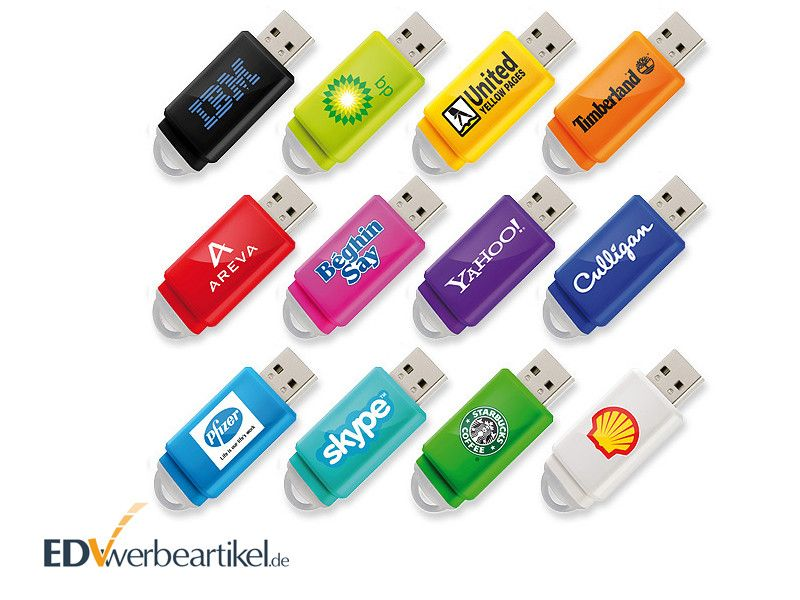 USB Sticks Werbemittel mit Logo bedrucken SLIDER BOX