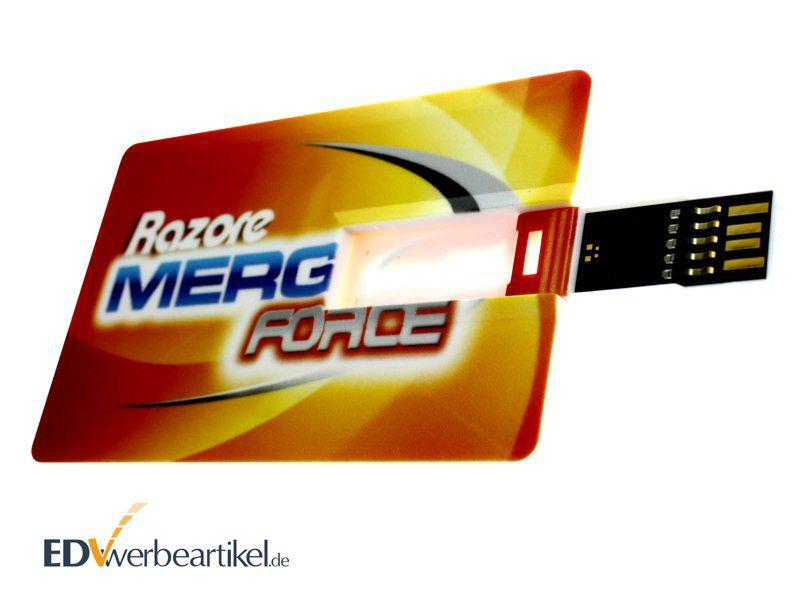 USB Visitenkarte 3.0 - mit Logo - Card USB Stick Scheckkarte