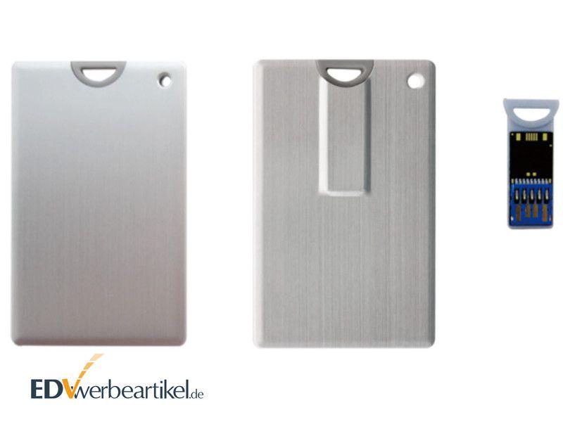USB Visitenkarte Aluminium