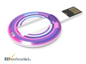 Runde USB Visitenkarte COIN mit Logodruck