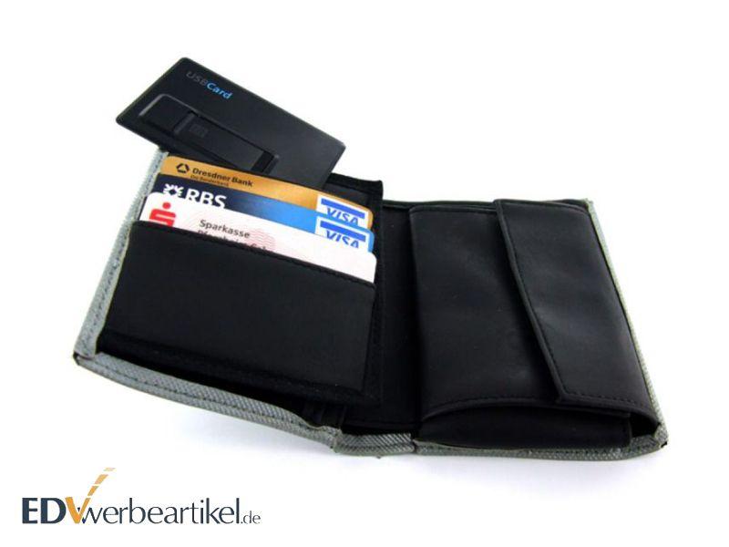USB Kreditkartenformat mit Logo als Werbeartikel