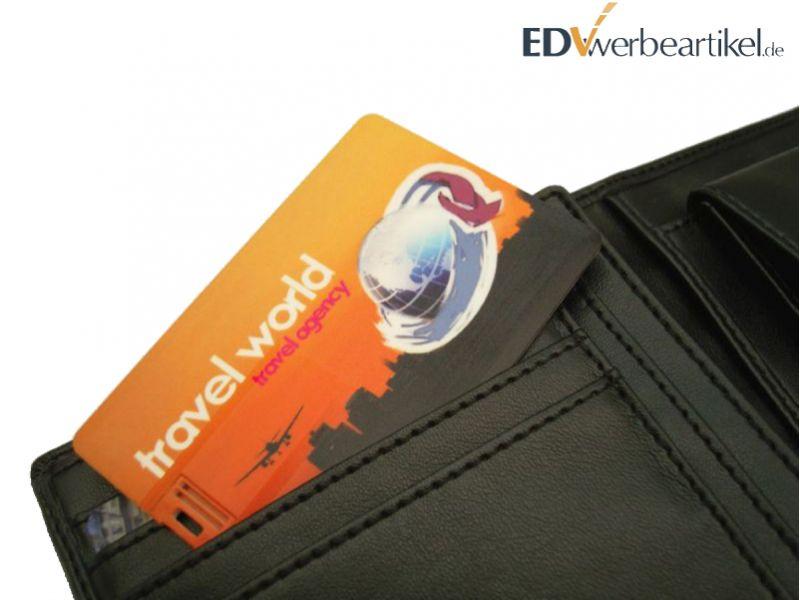 USB Scheckkarte mit Logo als Werbemittel