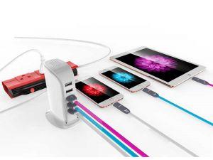 5-fach USB Ladegerät Werbeartikel Anwendungsbeispiel