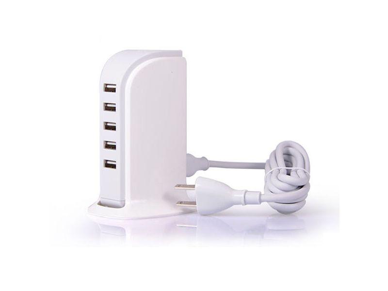 USB Ladegerät Werbeartikel in weiß
