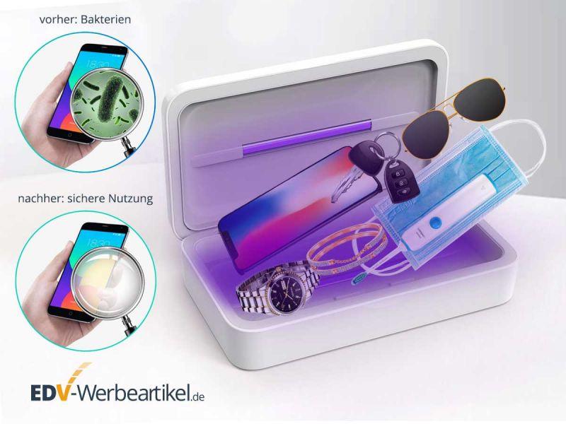 Desinfektionsbox mit UV Bestrahlung und Ladegerät 2in1 GERM FREE